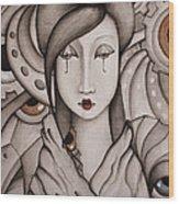 Who Am I Wood Print by Simona  Mereu