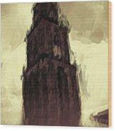 Wicked Tower Wood Print by Ayse Deniz