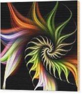 Wild Flower Wood Print by Anastasiya Malakhova