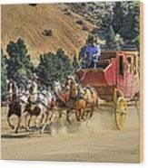 Wild West Ride 2 Wood Print by Donna Kennedy