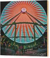 Wildwood's Giant Wheel Wood Print by Mark Miller