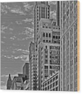 Willoughby Tower And 6 N Michigan Avenue Chicago  Wood Print by Christine Till