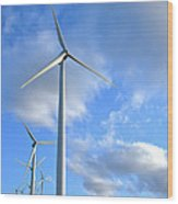 Wind Turbine Farm Wood Print by Olivier Le Queinec