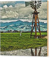 Windmill On The Hills Wood Print by Artist and Photographer Laura Wrede