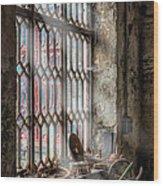 Window Decay Wood Print by Adrian Evans