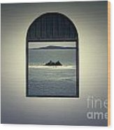 Window View Of Desert Island Puerto Rico Prints Lomography Wood Print by Shawn O'Brien