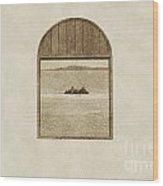 Window View Of Desert Island Puerto Rico Prints Vintage Wood Print by Shawn O'Brien