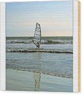 Windsurfing Art Poster - California Collection Wood Print by Ben and Raisa Gertsberg