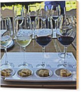 Wine And Cheese Tasting Wood Print by Kurt Van Wagner