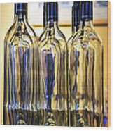 Wine Bottles Wood Print by Elena Elisseeva
