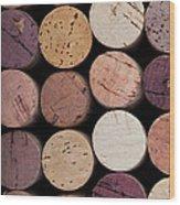 Wine Corks 1 Wood Print by Jane Rix