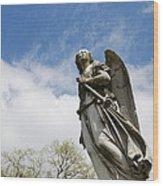 Winged Angel Wood Print by Jennifer Ancker