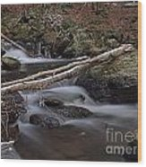 Winter At Buttermilk Falls Wood Print by Frank Piercy