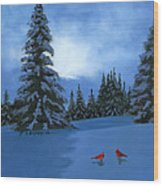 Winter Christmas Card 2012 Wood Print by Cecilia Brendel