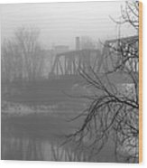 Winter Fog Wood Print by Bob Orsillo