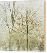 Winter Leaves Wood Print by Julie Palencia