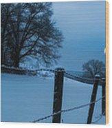 Winter Moon Wood Print by Bill Wakeley
