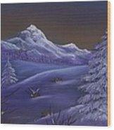 Winter Night Wood Print by Anastasiya Malakhova
