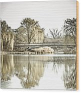 Winter Reflection Landscape Wood Print by Julie Palencia