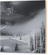 Winter Storm Clears Wood Print by Mike  Dawson