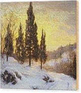 Winter Sundown Wood Print by Walter Launt Palmer