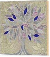 Winter Tree Wood Print by Barbara Moignard