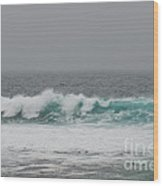 Winter Waves Wood Print by Artist and Photographer Laura Wrede