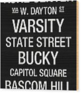 Wisconsin College Town Wall Art Wood Print by Replay Photos