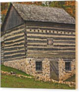Wisconsin Homestead Wood Print by Jack Zulli