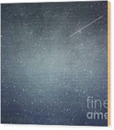 Wish Upon A Star Wood Print by Violet Gray