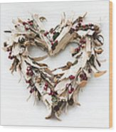 With Love Wood Print by Anne Gilbert