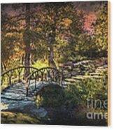 Woddard Park Bridge II Wood Print by Tamyra Ayles