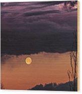 Wolf Moon Wood Print by Buffalo Fawn Photography