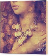 Woman's Decollete Wood Print by Jelena Jovanovic