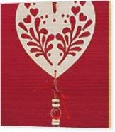Wooden Heart Wood Print by Anne Gilbert
