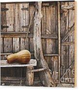 Wooden Shack Wood Print by Carlos Caetano