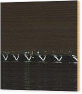 Woodrow Wilson Bridge - Washington Dc - 01138 Wood Print by DC Photographer