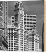 Wrigley Building Chicago Illinois Wood Print by Christine Till