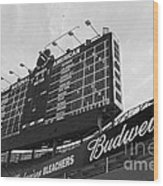 Wrigley Scoreboard Sans Color Wood Print by David Bearden