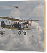 Ww1 Re8 Aircraft Wood Print by Pat Speirs