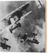 Wwi German British Dogfight Wood Print by Nypl