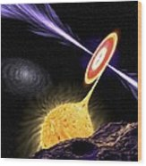 X-ray Binary System, Artwork Wood Print by Science Photo Library