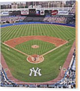 Yankee Stadium Wood Print by Allen Beatty