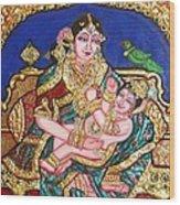 Yashoda Holding Gopala Wood Print by Jayashree