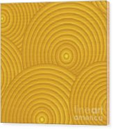 Yellow Abstract Wood Print by Frank Tschakert