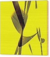 Yellow And Brown  Wood Print by Mario Perez