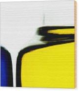 Yellow Blue Wood Print by Bob Orsillo