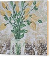 Yellow Bouquet Wood Print by Molly Roberts