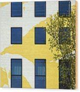 Yellow Facade In Berlin Wood Print by RicardMN Photography