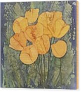 Yellow Tulips Wood Print by Carolyn Doe